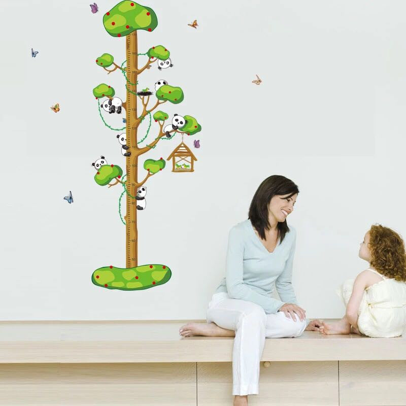 Tree Height Chart Wall  Decal