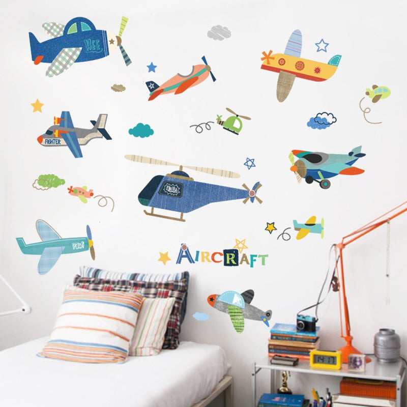 Airplane Wall Decals-Vinyl Wall Decals