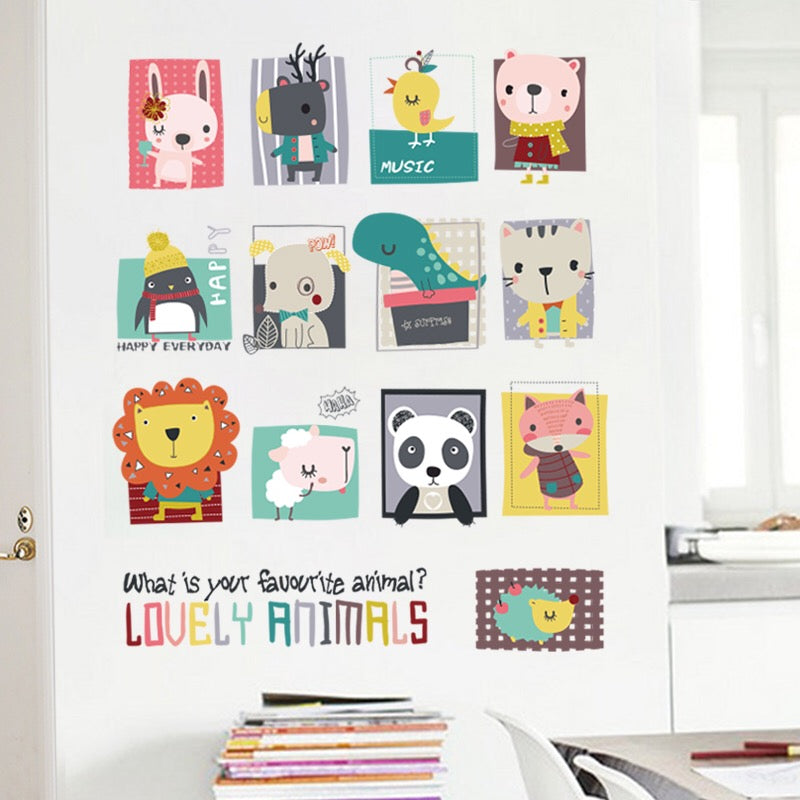 Lovely Animals Wall Decals
