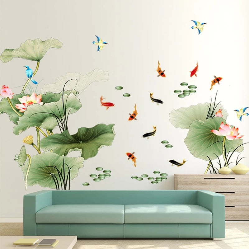 Large Lotus Wall Decals