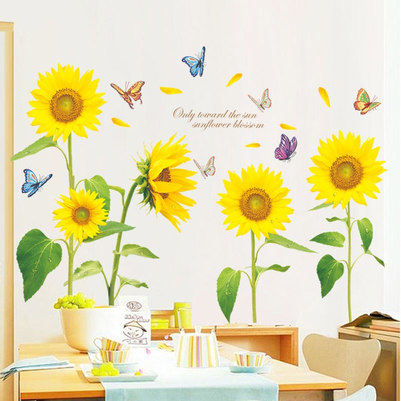 Sunflowers Wall Decals