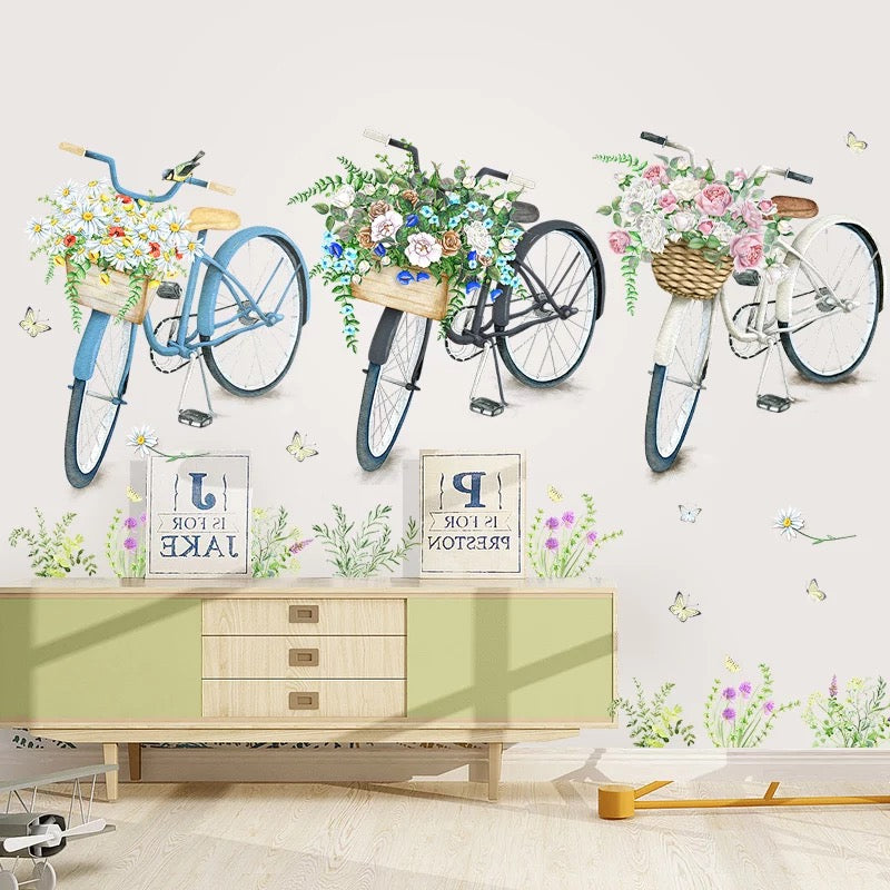 Bicycle Wall Decals  sc 1 st  the treasure thrift : bicycle wall decal - www.pureclipart.com