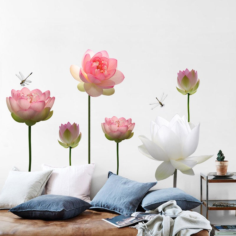 Lotus Wall Decal The Treasure Thrift