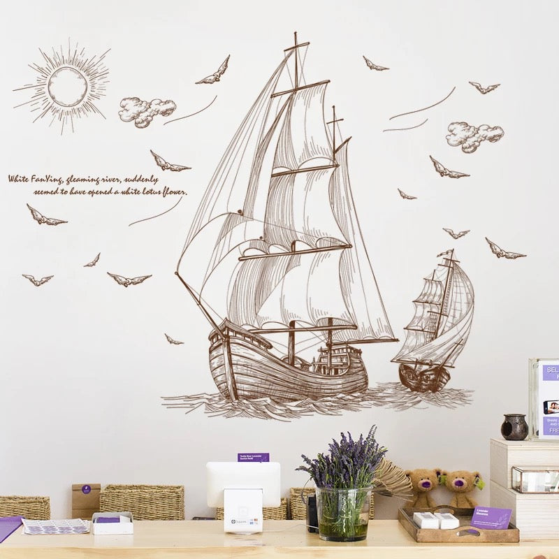 Sailboat Wall Sticker