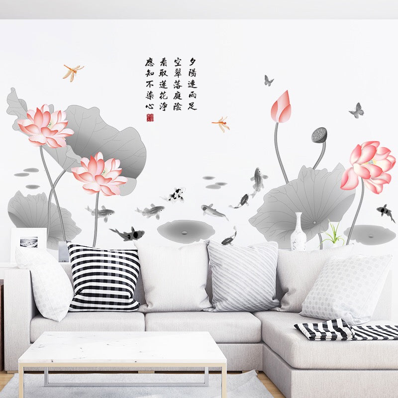 Lotus Decorative Wall Decals