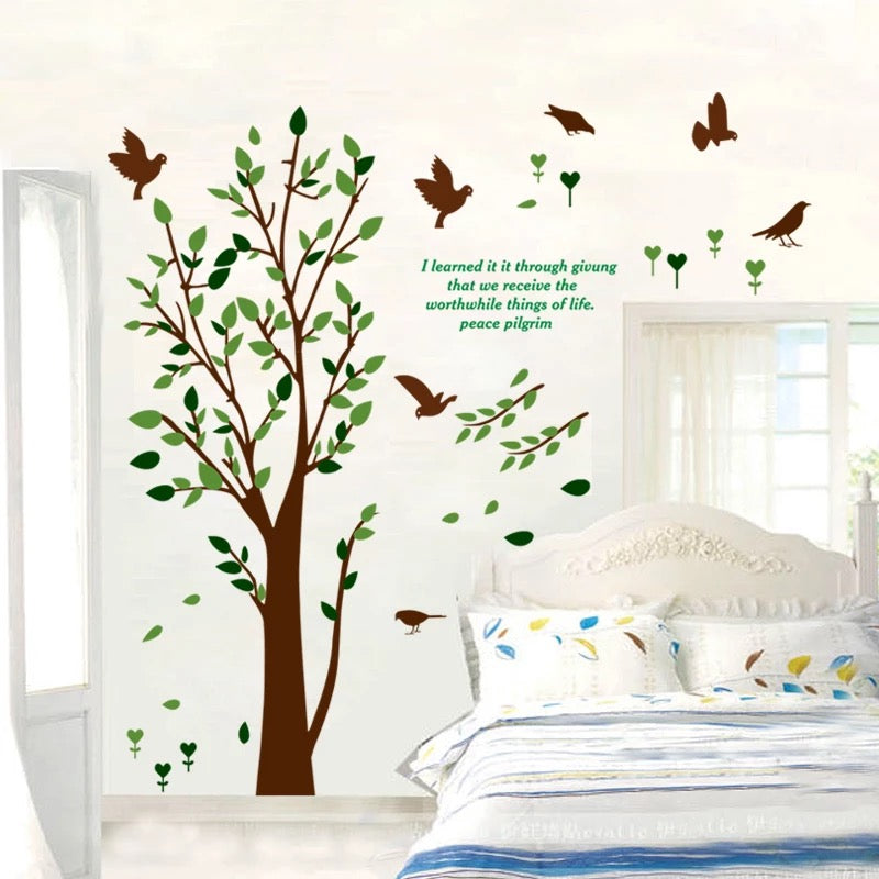 Tree & Bird Wall Decals