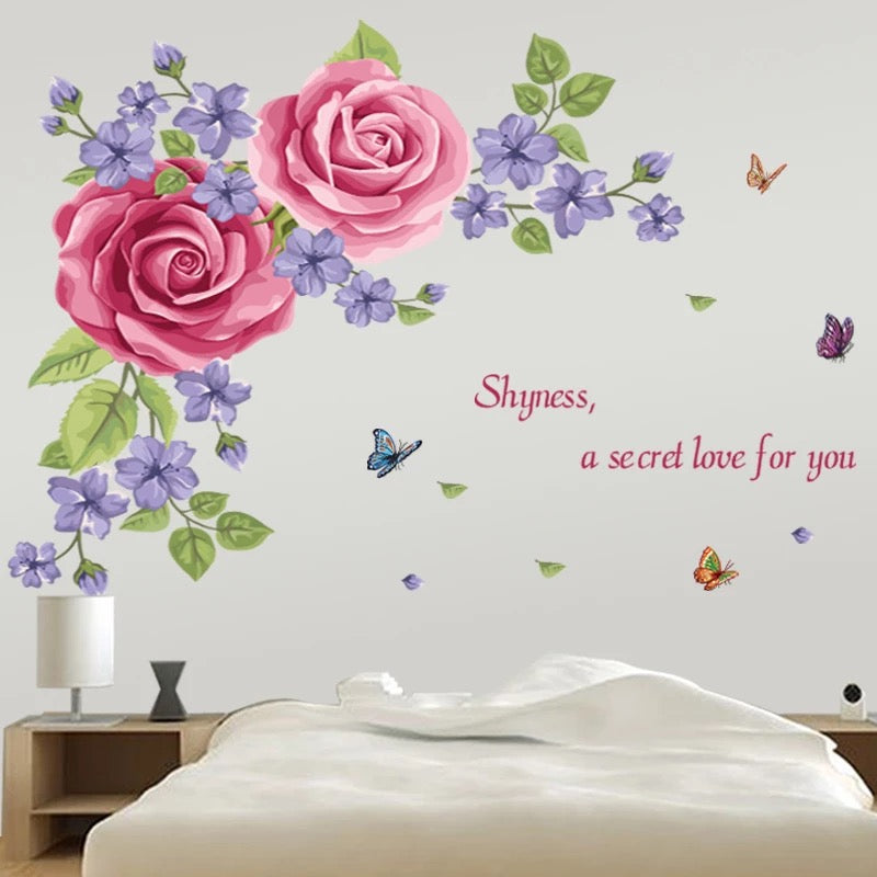 Large Flowers Decorative Wall Stickers
