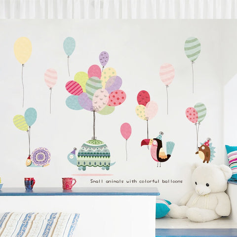 Air Balloons Wall Decals-Animals Wall Decals