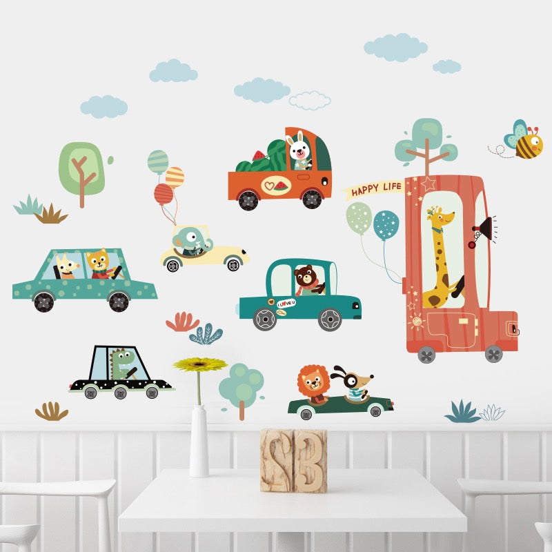 Animals & Cars Wall Decals