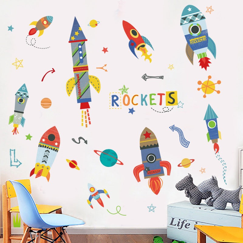 Rockets Wall Decals