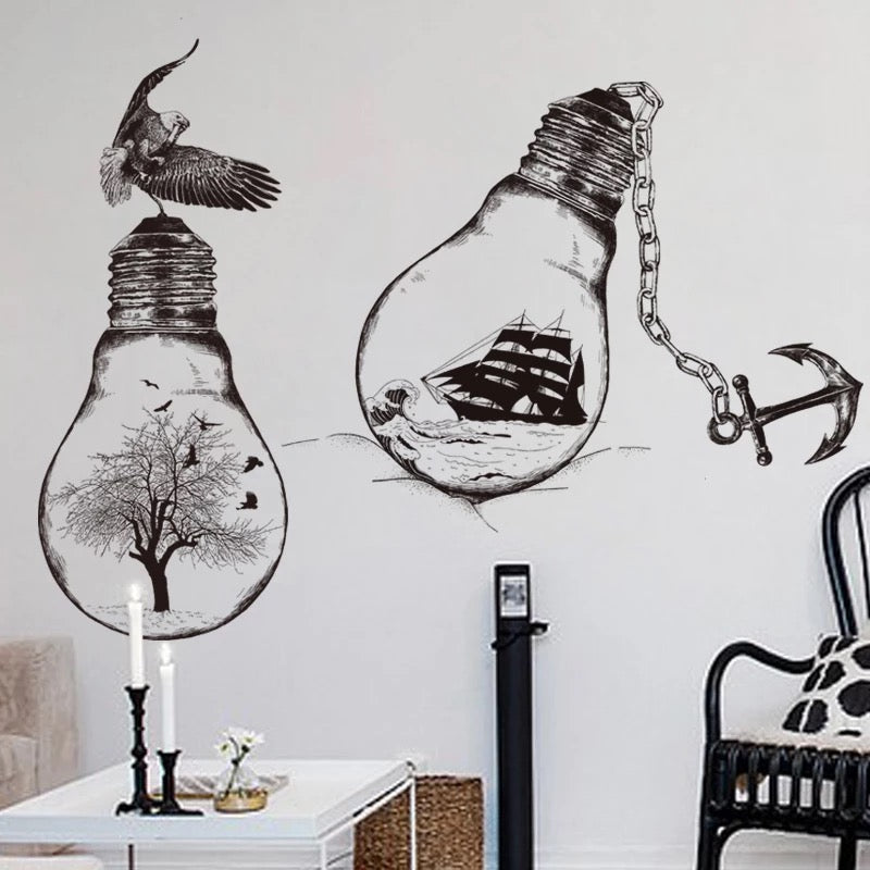 Light Bulbs Wall Decals