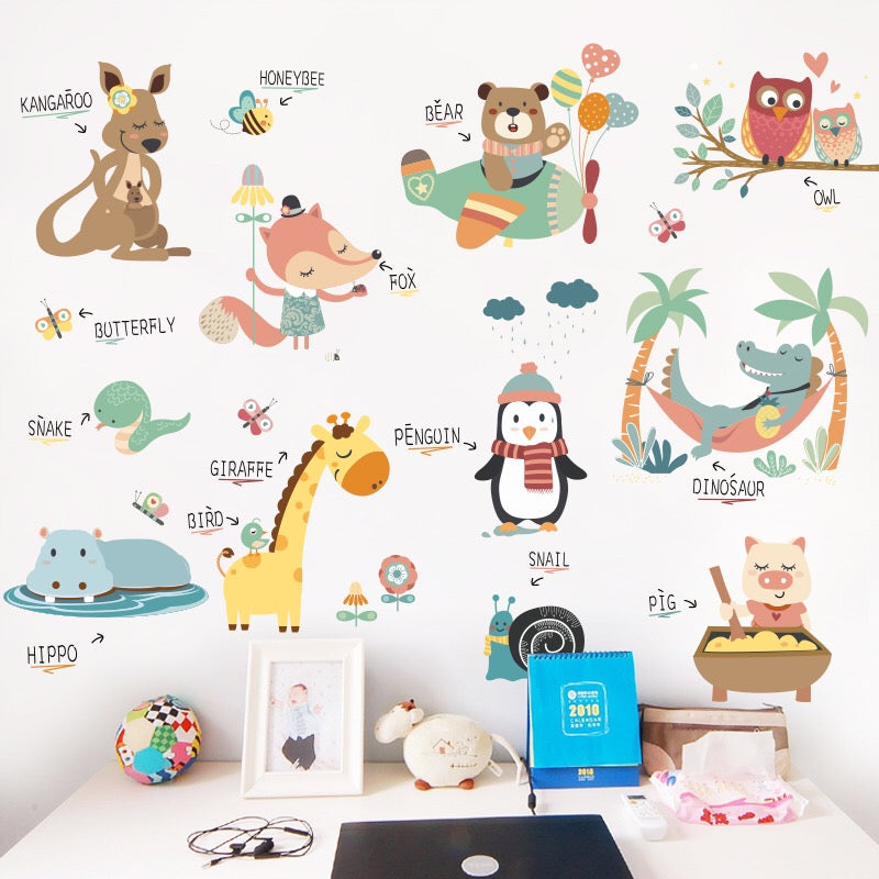 Nursery Animals Wall Decals
