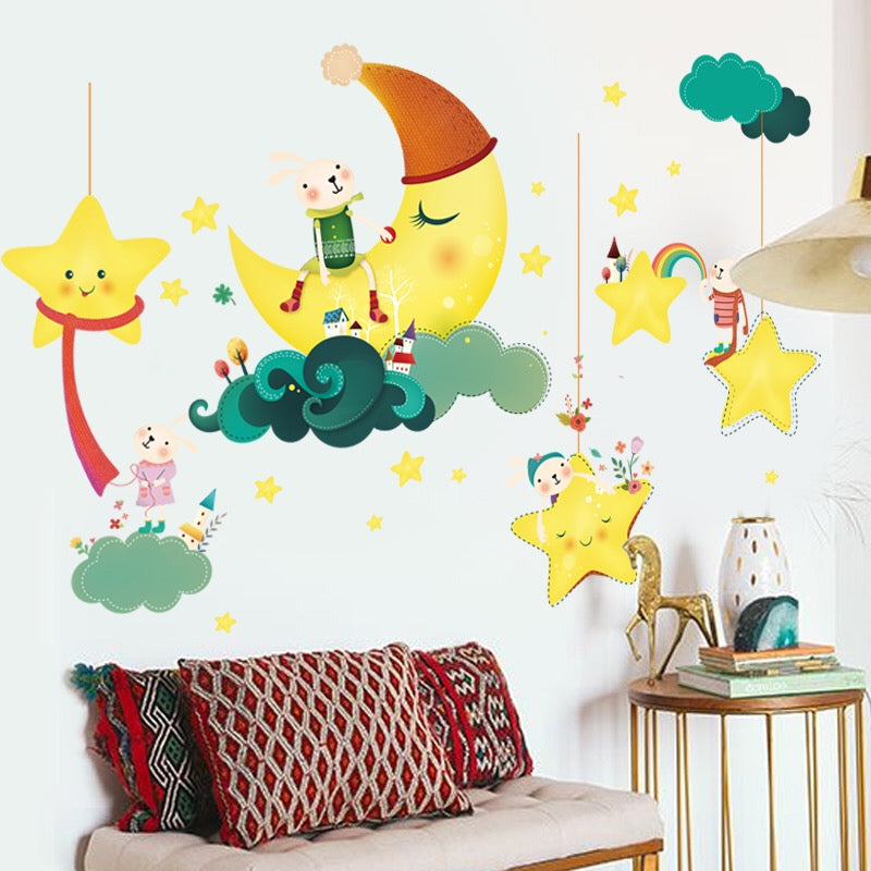 Moon & Stars Wall Decals