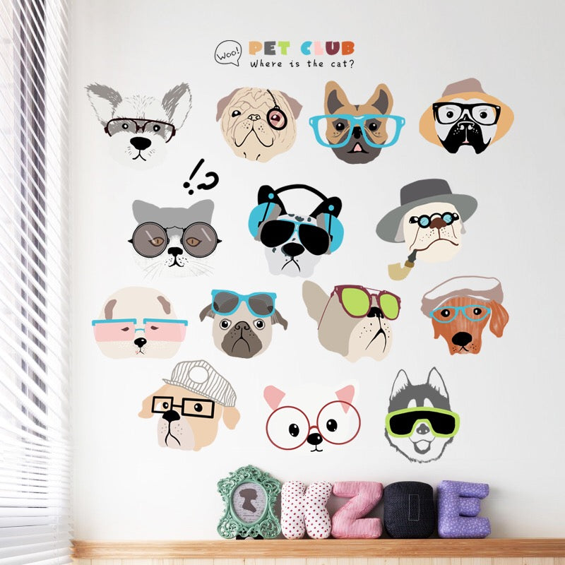 Funny Dogs Wall Decals