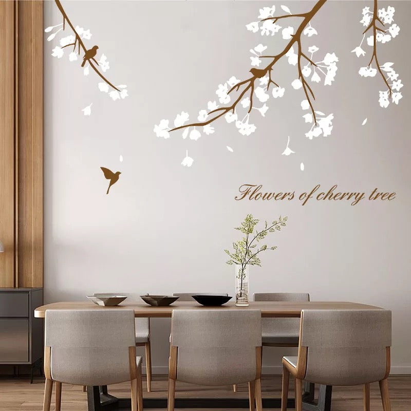 Tree Branch With Birds Wall Decals
