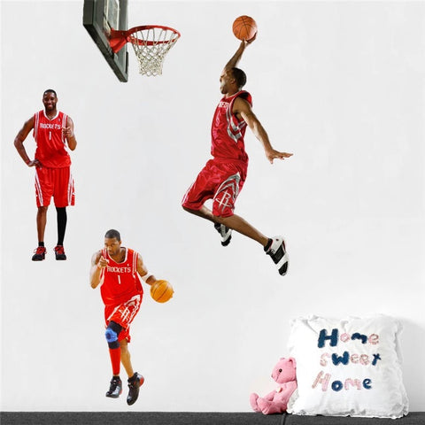 Houston Rockets Tracy Macgrady Wall Decals