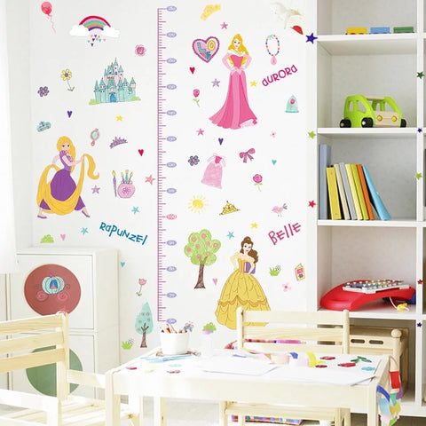 Disney Princess Height Chart Wall Decals