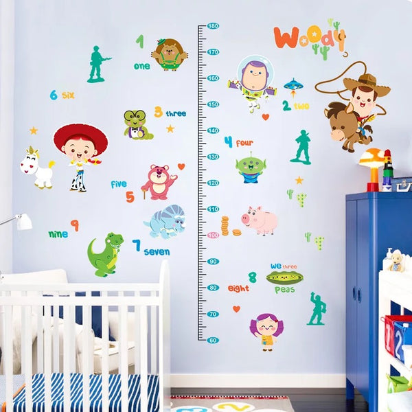 Toy Story Height Chart Wall Decals Part 57
