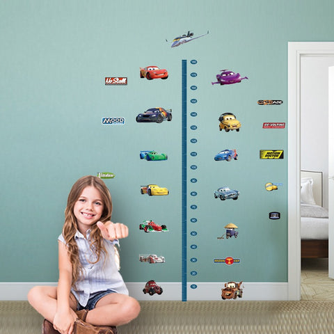 Cars Height Chart Wall Decals