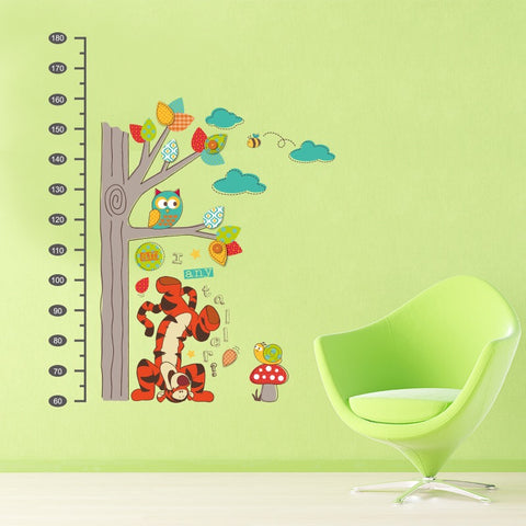 Winnie The Pooh Height Chart Wall Decals