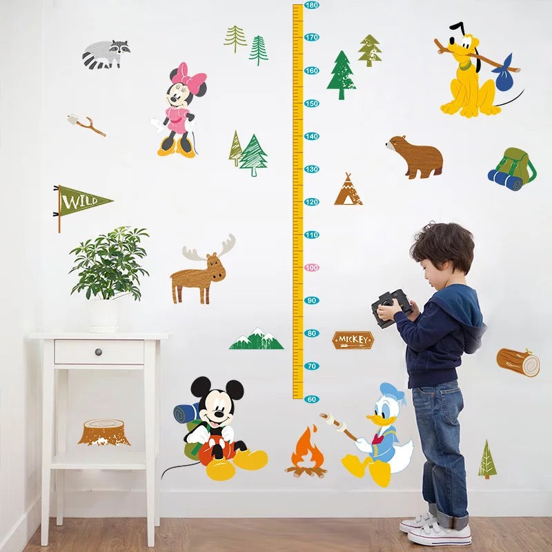 Mickey & Friends Child Height Wall Decals