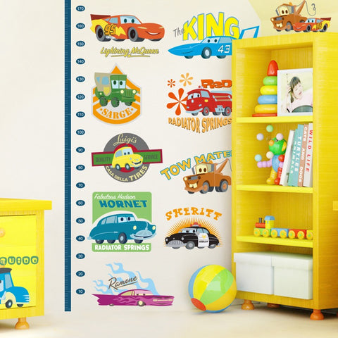 Disney Cars Child Height Chart Wall Decals