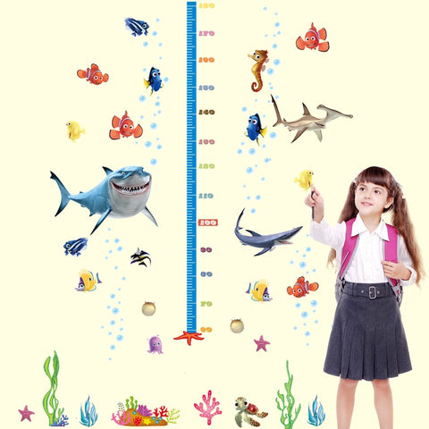 Finding Nemo Child Height Chart Wall Decals