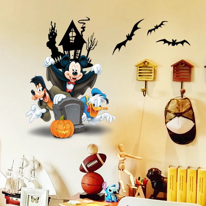 Mickey Mouse Halloween Wall Stickers