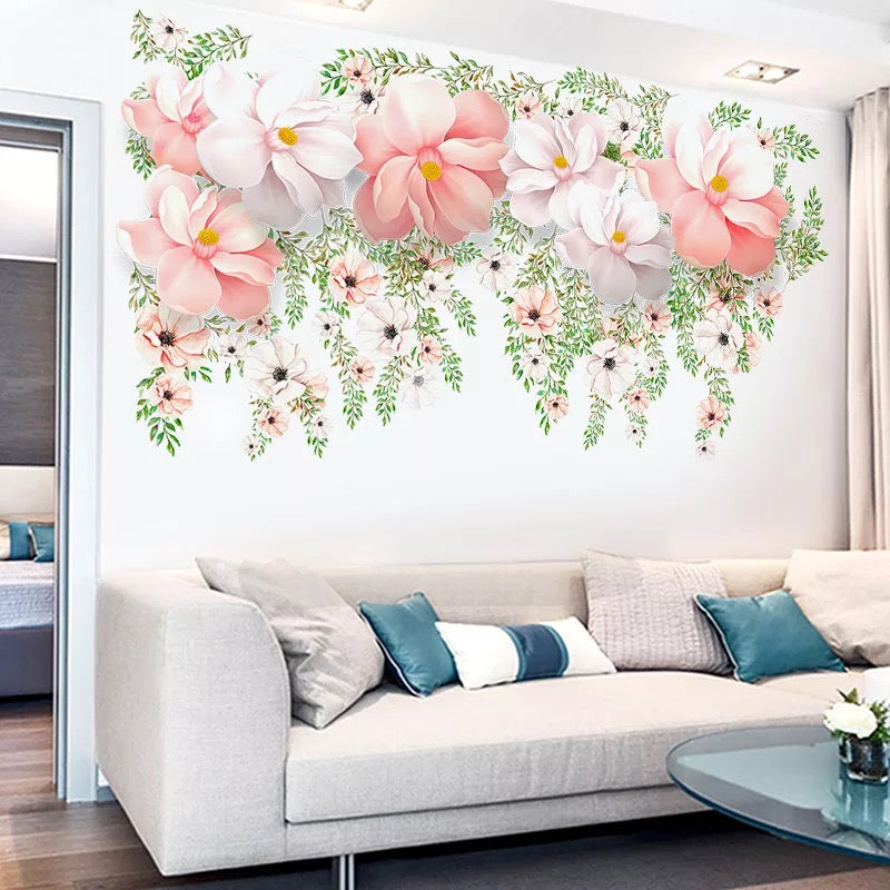 large flower wall decals – the treasure thrift