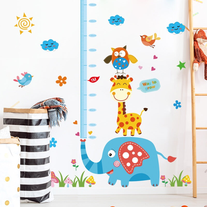 Kids Growth Height Chart Wall Decals