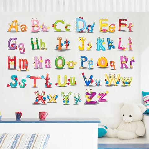 Alphabets Kids Room Wall Decals