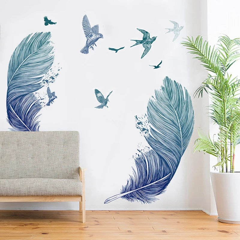 Large Feather  Peel And Stick Decals