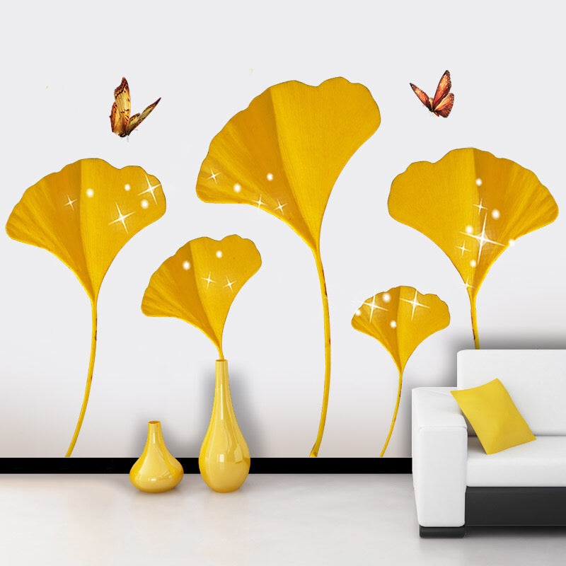Gold Flower Wall Decals
