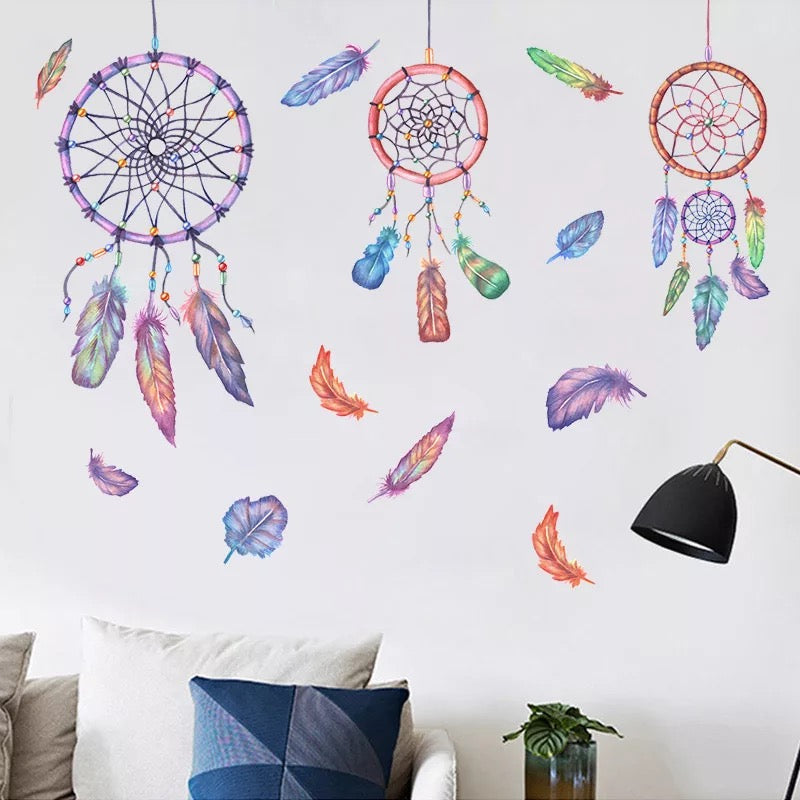 Dream Catcher Wall Decals-Feather  Wall Stickers