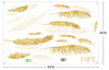 Gold Wall Decals-Feathers Wall Decals