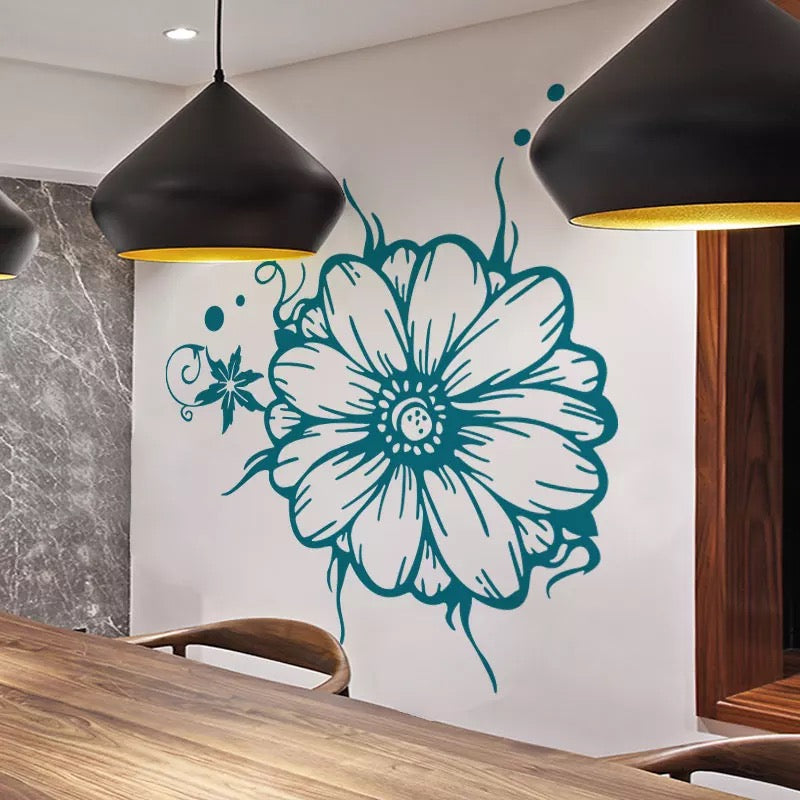 giant flower wall decals – the treasure thrift
