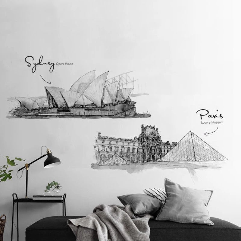 London Paris Sydney City Space Wall Decals