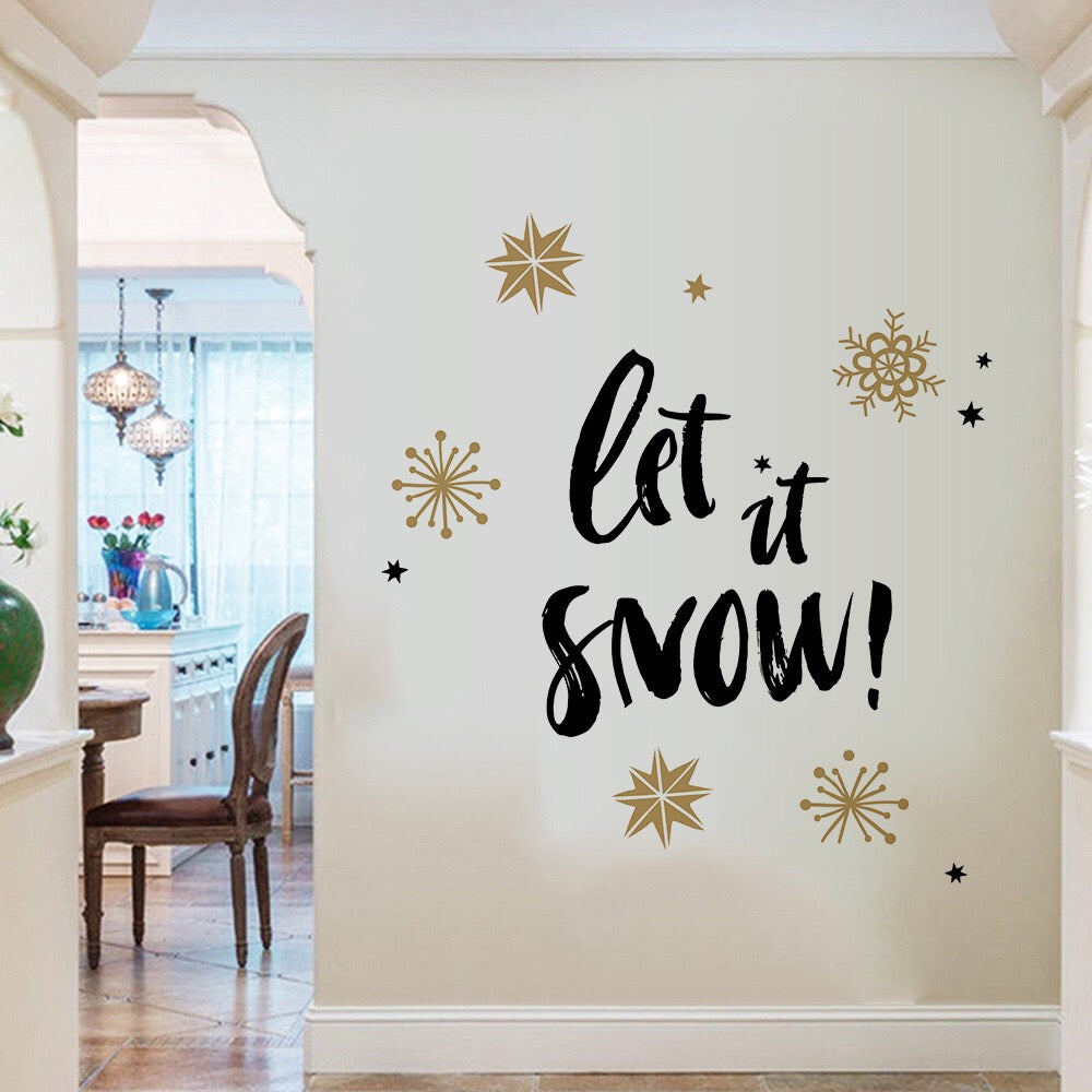 Let It Snow Christmas Decals