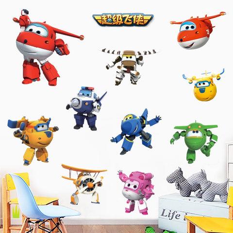 Super Wings Wall Decals