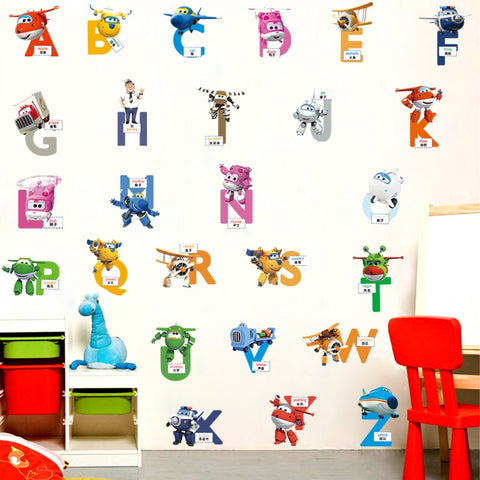 Super Wings Alphabets Wall Decals