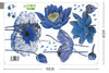 Blue Lotus Flowers Wall Decals