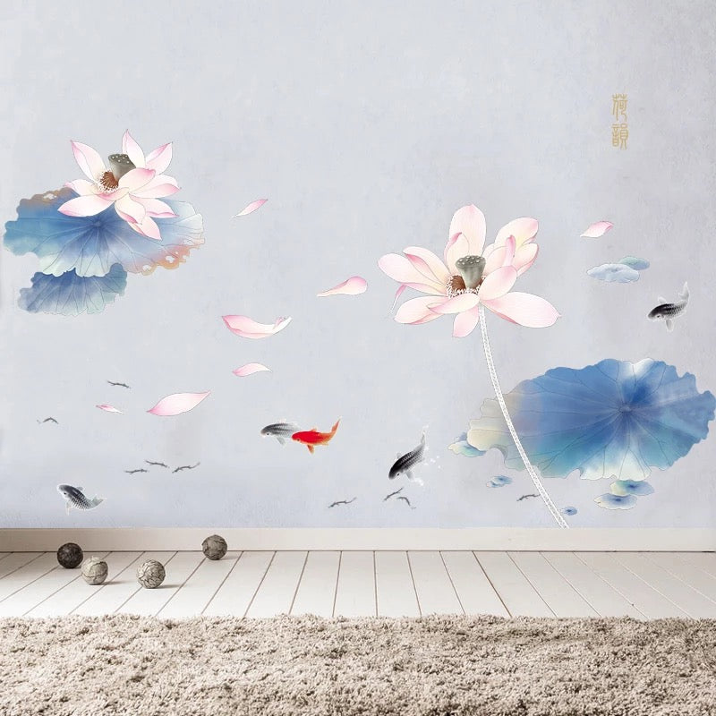Large Lotus Flower Wall Decals