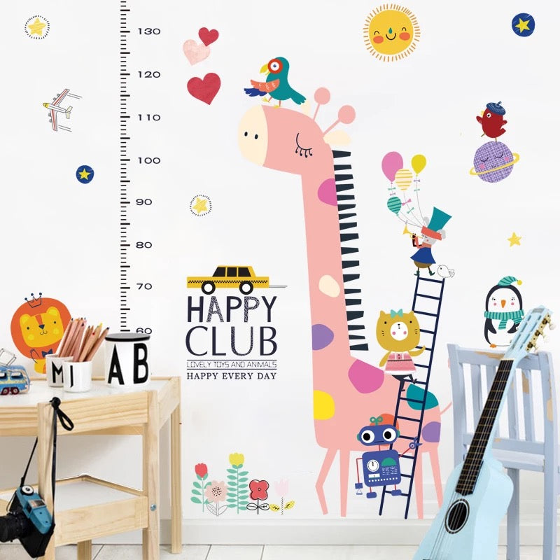 Giraffe Growth Chart Wall Decals