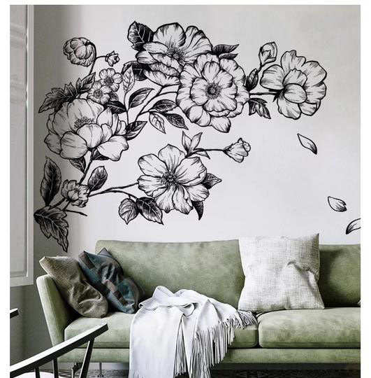 Flower Wall Decals-Removable Wall Stickers