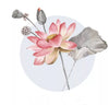 Pink Flower Wall Decals