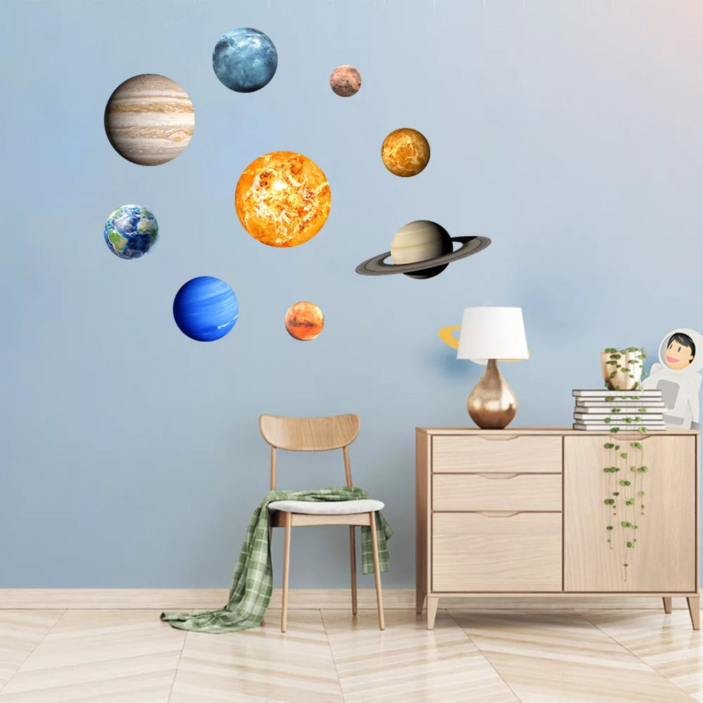 Solar System Glowing Stickers