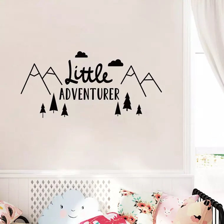 Little Adventure wall decal