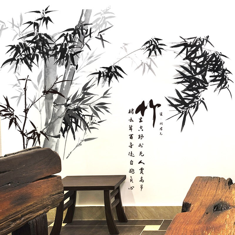 Chinoiserie Bamboo Wall Stickers