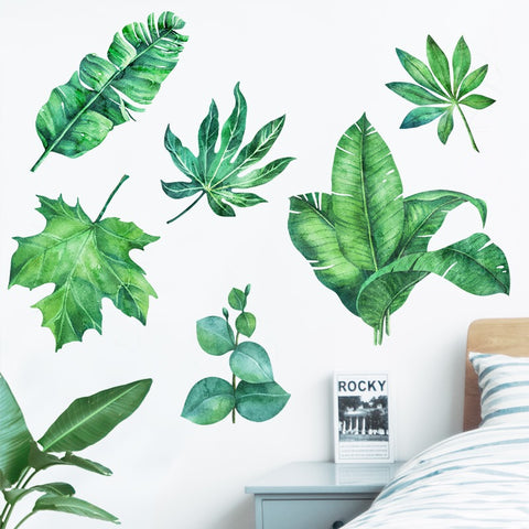 Tropical Plant Wall Decals