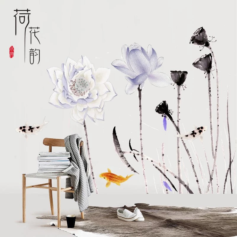 Lotus Flowers Wall Stickers